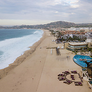 Aerial view of San Jose hotel zone. San Jose del Cabo, BCS.