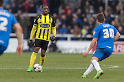 Andre Boucaud (Midfielder) Dagenham & Redbridge in action during the Sky Bet League 2 match between Hartlepool United and Dagenham and Redbridge at Victoria Park, Hartlepool, England on 12 March 2016. Photo by George Ledger.