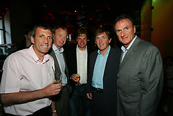 LIVERPOOL, ENGLAND - WEDNESDAY, JUNE 9th, 2005: Anders Borg (C) with Liverpool Legends (L-R) Alan Kennedy, David Fairclough, Anders Borg (Tournament Director), Kenny Dalglish and Phil Thompson at the Players Party at the St Thomas Hotel during the 4th Liverbird Developments Liverpool International Tennis Tournament. (Pic by Dave Rawcliffe/Propaganda)