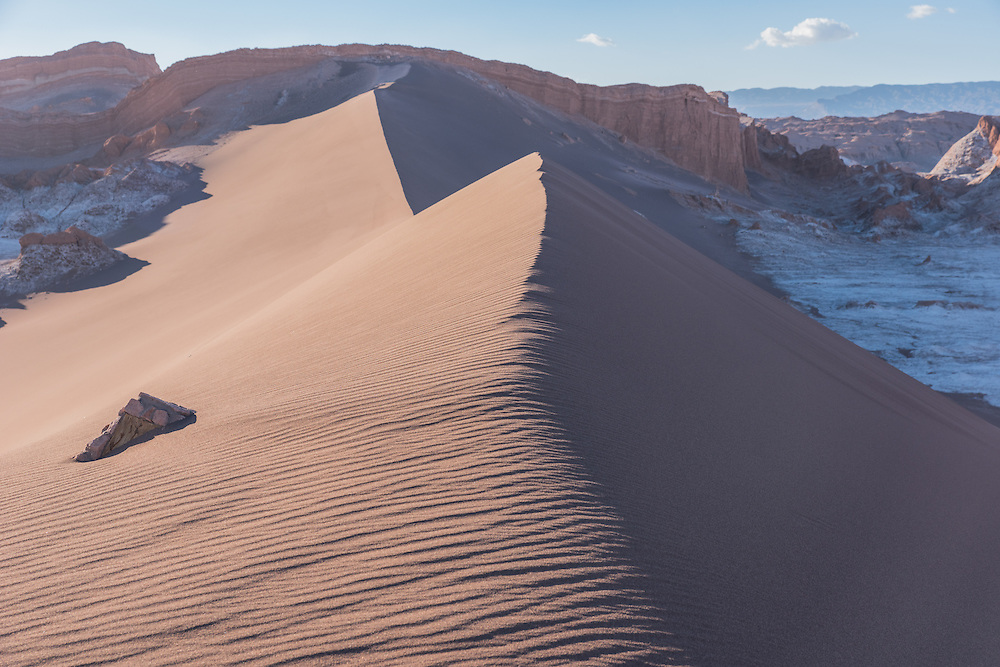 Big sanddune in the Valley of the Moon, Chile.