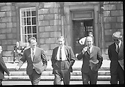 Fianna Fail Deputies Leave Leinster House.03/06/1970