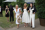 SALLY WOODWARD; MRS. DIAMANTIS LEMOS; MARTA DOSKARINA, 2016 SERPENTINE SUMMER FUNDRAISER PARTY CO-HOSTED BY TOMMY HILFIGER. Serpentine Pavilion, Designed by Bjarke Ingels (BIG), Kensington Gardens. London. 6 July 2016