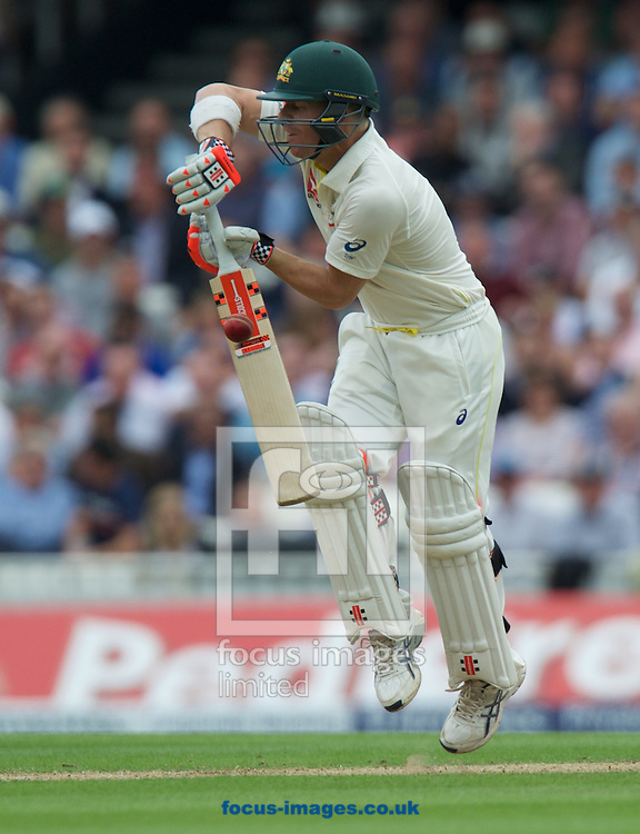 David Warner of Australia batting during the 5th Investec Ashes Test Match match at the Kia Oval, London<br /> Picture by Alan Stanford/Focus Images Ltd +44 7915 056117<br /> 20/08/2015