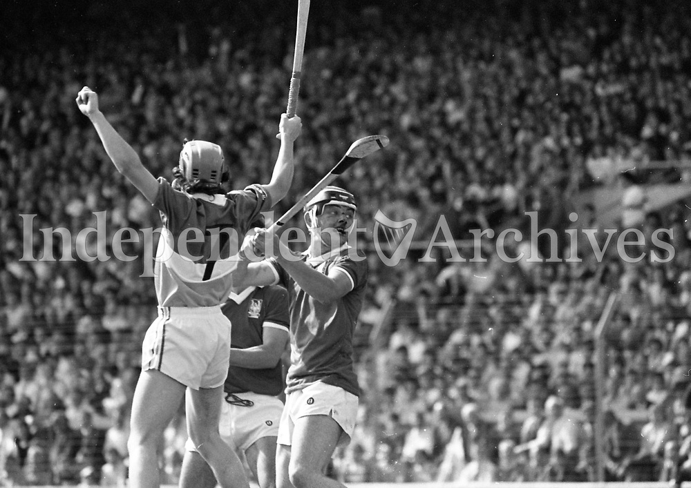 986-141 GAA Hurling Final, Croke Park, Cork v Galway. 7/8/86 Photo  Matt Walsh (Part of Independent Newspapers Ireland/NLI Collection)