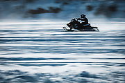 The snowmobile races during the jamboree draw big crowds, and the winners pot is in the thousands of dollars.