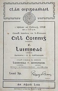 All Ireland Senior Hurling Championship Final,.Brochures,.01.09.1940, 09.01.1940, 1st September 1940, .Kilkenny 1-7, Limerick 3-7, .Minor Limerick v Antrim,.Senior Kilkenny v Limerick, .Croke Park,.0191940AISHCF,