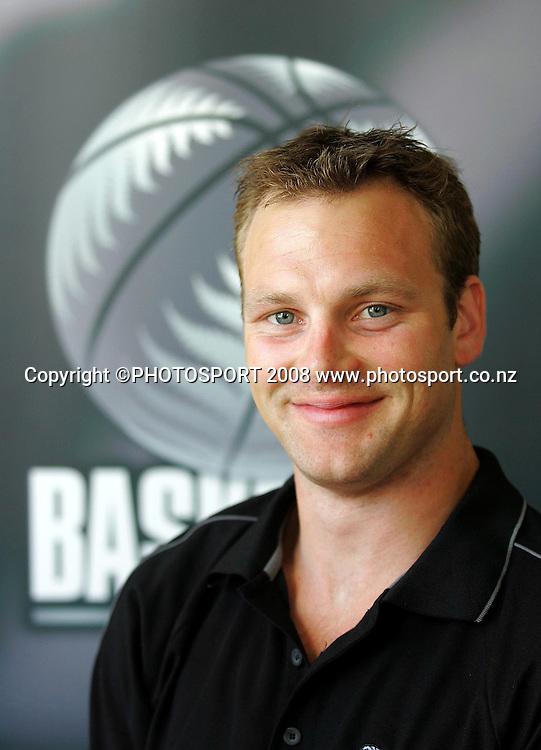 Tournaments manager Tom Radomski.<br /> NZ Basketball Staff Photoshoot. NZ Basketball Head Office, Wellington. 16 January 2008. Photo: Dave Lintott/PHOTOSPORT