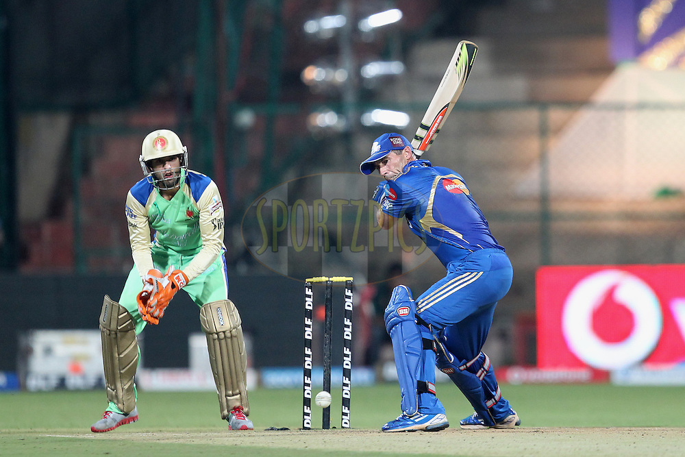 Action from owners match played after match 62 of the the Indian Premier League ( IPL) 2012  between The Royal Challengers Bangalore and the Mumbai Indians held at the M. Chinnaswamy Stadium, Bengaluru on the 14th May 2012..Photo by Prashant Bhoot/IPL/SPORTZPICS