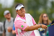 Kiradech Aphibarnrat (THA) drives on the 16th hole during the third round of the Aberdeen Standard Investments Scottish Open at The Renaissance Club, North Berwick, Scotland on 13 July 2019.