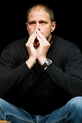 Radoslav Nesterovic, upokojeni vrhunski kosarkar na okrogli mizi na temo KK Union Olimpija v organizaciji drustva Sportforum Slovenija, on February 20, 2012 in Mercurius Arena, BTC, Ljubljana, Slovenia. (Photo By Vid Ponikvar / Sportida.com)