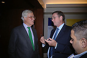 Lord Baker and Lord Ashcroft. 'Dirty politics, Dirty times: My fight with Wapping and New Labour' by Michael Ashcroft. Book launch party in aid of Crimestoppers. Riverbank Plaza Hotel. London SE1.      October 10 2005. ONE TIME USE ONLY - DO NOT ARCHIVE © Copyright Photograph by Dafydd Jones 66 Stockwell Park Rd. London SW9 0DA Tel 020 7733 0108 www.dafjones.com