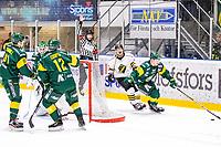 2019-11-16 | Umeå, Sweden:AIK (19) Johan Porsberger got a penalty in  HockeyAllsvenskan during the game  between Björklöven and AIK at A3 Arena ( Photo by: Michael Lundström | Swe Press Photo )<br /> <br /> Keywords: Umeå, Hockey, HockeyAllsvenskan, A3 Arena, Björklöven, AIK, mlba191116