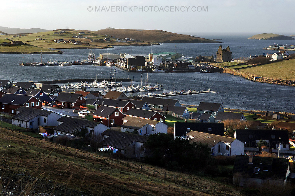 The fishing industry in Shetland has seen one of it's most successful years. Business leaders on Shetland believe the unique nature of it's economy has protected it from the current downturn hitting the rest of the UK...Pic shows Scalloway harbour in Shetland...Picture Richard Scott/Maverick