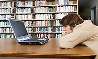 Student with Laptop at the Library