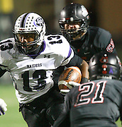 Cedar Ridge's Ron Dogan rushes for yardage against Bowie Friday at Burger Stadium.  (LOURDES M SHOAF for Round Rock Leader.)