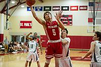 St Paul's School varsity basketball with New Hampton.  ©2018 Karen Bobotas Photographer