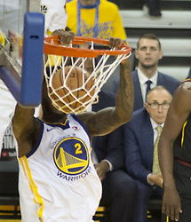 May 31, 2018 - Oakland, California, U.S - Jordan Bell #2 of the Golden State Warriors dunks the ball  during  their NBA Championship Game 1 with the Cleveland   Cavaliers at Oracle Arena in Oakland, California on  Thursday,  May 31, 2018. (Credit Image: © Prensa Internacional via ZUMA Wire)