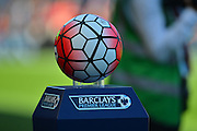 The Barclays Premierleague ball during the Barclays Premier League match between Bournemouth and Aston Villa at the Goldsands Stadium, Bournemouth, England on 8 August 2015. Photo by Mark Davies.