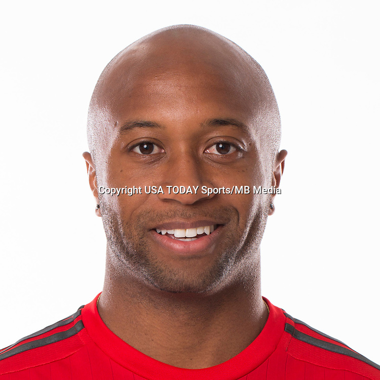 Feb 25, 2016; USA; Toronto FC player Collen Warner poses for a photo. Mandatory Credit: USA TODAY Sports