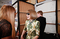 Serena Williams and Anna Wintour backstage during Klarna STYLE360 NYFW Hosts S by Serena Fashion Show