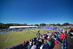 LIVERPOOL, ENGLAND - Friday, June 21, 2019: Doubles action during Day Two of the Liverpool International Tennis Tournament 2019 at the Liverpool Cricket Club. (Pic by David Rawcliffe/Propaganda)