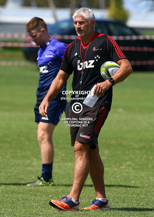 DURBAN, SOUTH AFRICA, 22,MARCH, 2016 - Todd Blackadder (Head Coach) of the BNZ Crusaders during The Crusaders training session  at Northwood School Durban North in Durban, South Africa. (Photo by Steve Haag)<br /> <br /> images for social media must have consent from Steve Haag