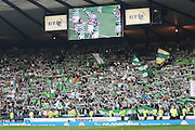 Fans celebrate winning the League Cup final after Celtic had won the final between Rangers and Celtic at Hampden Park -<br /> David Young
