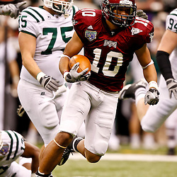 December 18, 2010; New Orleans, LA, USA; Troy Trojans wide receiver Tebiarus Gill (10) during the first half of the 2010 New Orleans Bowl against the Ohio Bobcats at the Louisiana Superdome.  Mandatory Credit: Derick E. Hingle