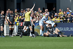 April 1, 2018 - Clermont Ferrand - Stade Marcel, France - Deception de Nick Abendanon et Remi Lamerat (asm) - Joie de Pat Lambie et Boris Palu  (Credit Image: © Panoramic via ZUMA Press)