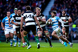 Ramiro Moyano of Argentina runs at The Barbarians - Mandatory by-line: Robbie Stephenson/JMP - 01/12/2018 - RUGBY - Twickenham Stadium - London, England - Barbarians v Argentina - Killick Cup