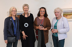 Pictured at the opening of &lsquo;Silent Notes&rsquo; an exhibition of new paintinfs by Deirdre Walsh at the Custom House Studios were Geraldine Mitchell, Deirdre Walsh, Margaret Duffy and Gemma Hensey. The exhibition continues until at the gallery until the 18th of September.<br />Pic Conor McKeown