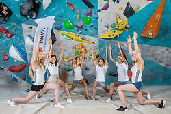 Slovenian National Climbing team posing for social media of Prva Osebna zavarovalnica before new season, on June 30, 2020 in Koper / Capodistria, Slovenia. Photo by Vid Ponikvar / Sportida