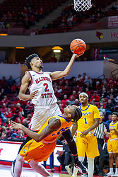 NORMAL, IL - December 07: Zach Copeland crashes into Ta'Lon Cooper during a college basketball game between the ISU Redbirds and the Morehead State Eagles on December 07 2019 at Redbird Arena in Normal, IL. (Photo by Alan Look)
