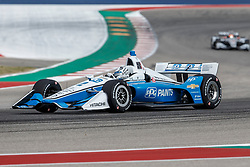 March 23, 2019 - Austin, TX, U.S. - AUSTIN, TX - MARCH 23: Josef Newgarden (2) in the PPG Team Penske, Chevrolet powered Dallara IR-18 at turn 13 during Practice 3 at the IndyCar Classic held March 22-24, 2019 at the Circuit of the Americas in Austin, TX. (Photo by Allan Hamilton/Icon Sportswire) (Credit Image: © Allan Hamilton/Icon SMI via ZUMA Press)