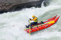 Whitewater rafting in Tumwater Canyon of the Wenatchee River Washington USA