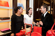 Smythson Royal Wedding exhibition preview. Smythson together with Janice Blackburn has commisioned 5 artist designers to create their own interpretations of  Royal wedding memorabilia. Smythson. New Bond St. London. 5 April 2011.  -DO NOT ARCHIVE-© Copyright Photograph by Dafydd Jones. 248 Clapham Rd. London SW9 0PZ. Tel 0207 820 0771. www.dafjones.com.