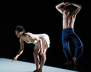 Cocteau Voices - Duet for One Voice and La Voix Humaine<br /> a double - bill of opera &amp; dance at the Royal Opera House, Linbury Studio Theatre, London, Great Britain <br /> rehearsal <br /> 15th June 2011<br /> <br /> Duet for One Voice<br /> Choreography by Aletta Collins<br /> <br /> Daniel Hay Gordon <br /> Hye Kyoung Kim <br /> <br /> Photograph by Elliott Franks