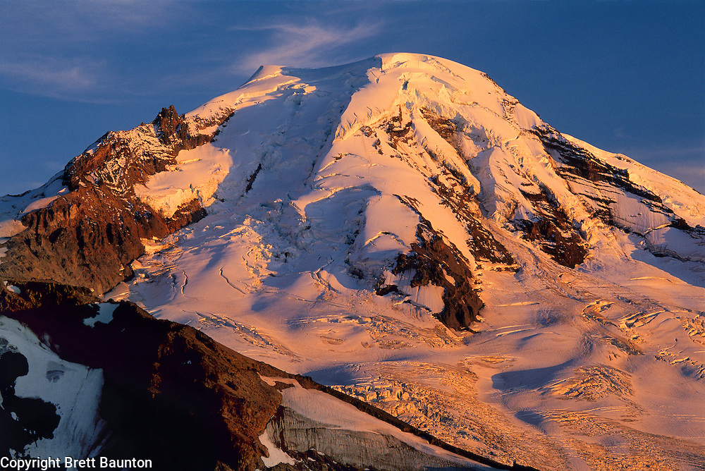Mt. Baker, Alpenglow, North Face, Washington State