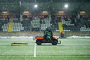 G&Ouml;TEBORG - 2018-02-18: Planen plogas under halvtidsvilan under matchen i Svenska Cupen, grupp 4, mellan BK H&auml;cken och IFK V&auml;rnamo den 18 februari 2018 p&aring; Bravida Arena i G&ouml;teborg, Sverige.<br /> Foto: Anders Ylander/Ombrello<br /> ***BETALBILD***