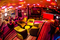 Vibe (teen club) on the new Disney Dream cruise ship sailing between Florida and the Bahamas.