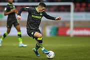 Forest Green Rovers Jack Aitchison(29), on loan from Celtic on the ball during the EFL Sky Bet League 2 match between Leyton Orient and Forest Green Rovers at the Matchroom Stadium, London, England on 23 November 2019.