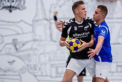27-01-2018 NED: OVVO/De Kroon - Oost Arnhem, Maarssen<br /> De korfballers/sters uit Arnhem winnen met 24 - 22 / Emiel Broenink #8