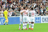Joie Lyon - Clement GRENIER - 02.05.2015 - Lyon / Evian Thonon - 35eme journee de Ligue 1<br />Photo : Jean Paul Thomas / Icon Sport