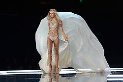 Romee Strijd on the catwalk for the Victoria's Secret Fashion Show at the Mercedes-Benz Arena in Shanghai, China.