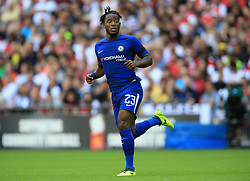 "Chelsea's Michy Batshuayi during the Community Shield at Wembley, London. PRESS ASSOCIATION Photo. Picture date: Sunday August 6, 2017. See PA story SOCCER Community Shield. Photo credit should read: Nigel French/PA Wire. RESTRICTIONS: EDITORIAL USE ONLY No use with unauthorised audio, video, data, fixture lists, club/league logos or ""live"" services. Online in-match use limited to 75 images, no video emulation. No use in betting, games or single club/league/player publications."