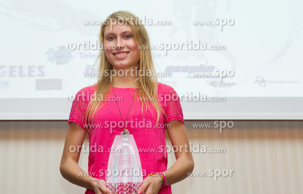 Marusa Mismas during the Slovenia's Athlete of the year award ceremony by Slovenian Athletics Federation AZS on November 8, 2013 in Grand Hotel Toplice, Bled, Slovenia. Photo by Vid Ponikvar / Sportida