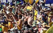 Australian fans during the 3rd one day international cricket match, New Zealand Black Caps v Australia, Chappell Hadlee Series at the SCG, Australia, 8 February 2009..Photo: Andrew Cornaga/PHOTOSPORT