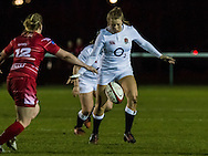 Zoe Harrison in action, Army Women v U20 England Women at the Army Rugby Stadium, Aldershot, England, on 16th February 2017. Final score 15-38.
