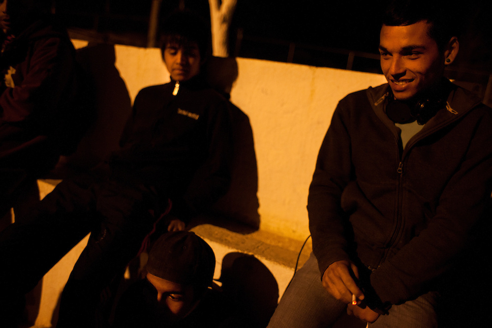 "Youth, primarily of the gang ""Los Noveno"" hang out and get high on marijuana and paint thinner. Within the last two months one of their members was murdered."