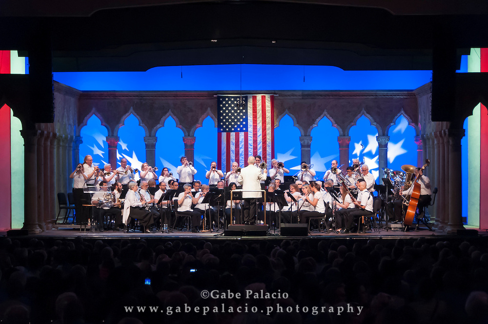 Pops, Patriots, &amp; Fireworks, An Independence Day Celebration by The Westchester Symphonic Winds with Ryan Silverman in the Venetian Theater at Caramoor in Katonah New York on July 2, 2016. <br /> (photo by Gabe Palacio)